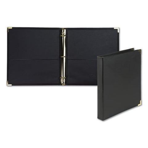 "Classic Collection Ring Binder, 3 Rings, 1"" Capacity, 11 X 8.5, Black"