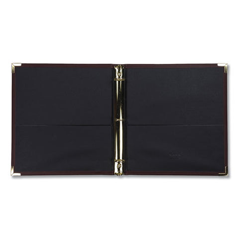 "Classic Collection Ring Binder, 3 Rings, 1"" Capacity, 11 X 8.5, Burgundy"