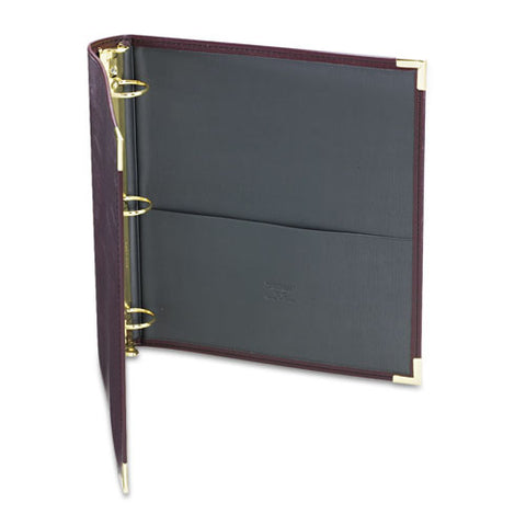 "Classic Collection Ring Binder, 3 Rings, 1.5"" Capacity, 11 X 8.5, Burgundy"