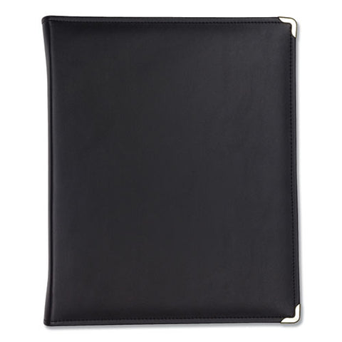 "Classic Collection Zipper Ring Binder, 3 Rings, 1.5"" Capacity, 11 X 8.5, Black"