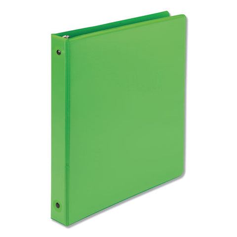 "Earth's Choice Biobased Economy Round Ring View Binders, 3 Rings, 1"" Capacity, 11 X 8.5, Lime"