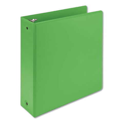 "Earth's Choice Biobased Economy Round Ring View Binders, 3 Rings, 3"" Capacity, 11 X 8.5, Lime"