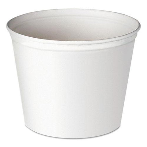 Double Wrapped Paper Bucket, Unwaxed, White, 83oz, 100-carton