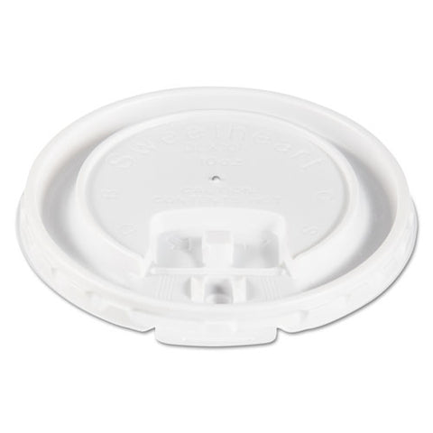 Lift Back And Lock Tab Cup Lids For Foam Cups, Fits 10 Oz Trophy Cups, White, 2000-carton