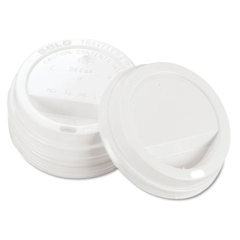 Traveler Cappuccino Style Dome Lid, Polystyrene, Fits 10-24 Oz Hot Cups, White, 1000-carton