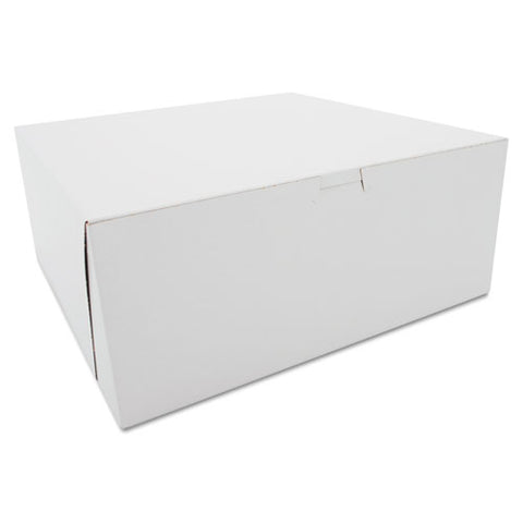 Tuck-top Bakery Boxes, 12 X 12 X 5, White, 100-carton