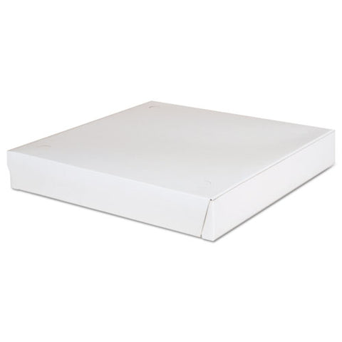 Lock-corner Pizza Boxes, 12 X 12 X 1.88, White, 100-carton