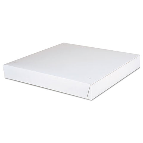 Paperboard Pizza Boxes,14 X 14 X 1.88, White, 100-carton