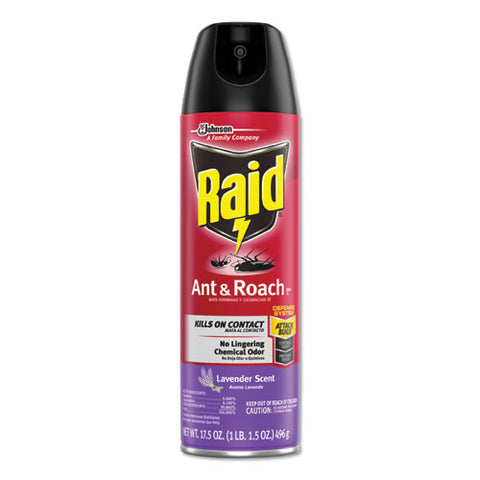 Ant And Roach Killer, 17.5 Oz Aerosol, Lavendar, 12-carton