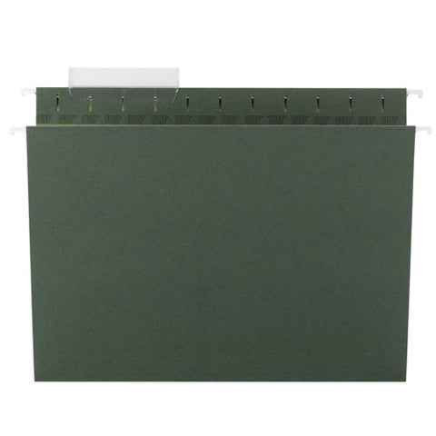 Tuff Hanging Folders With Easy Slide Tab, Letter Size, 1-3-cut Tab, Standard Green, 20-box