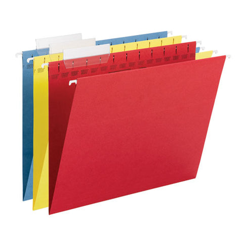 Tuff Hanging Folders With Easy Slide Tab, Letter Size, 1-3-cut Tab, Assorted, 15-box