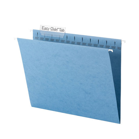 Tuff Hanging Folders With Easy Slide Tab, Letter Size, 1-3-cut Tab, Blue, 18-box
