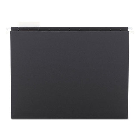 Colored Hanging File Folders, Letter Size, 1-5-cut Tab, Black, 25-box