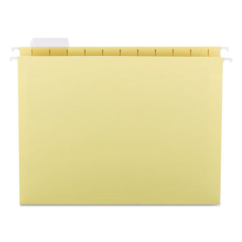 Colored Hanging File Folders, Letter Size, 1-5-cut Tab, Yellow, 25-box
