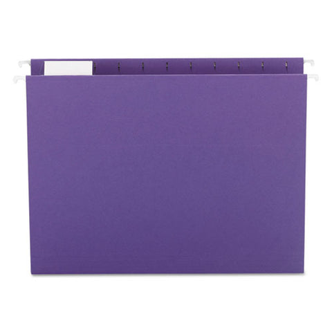 Colored Hanging File Folders, Letter Size, 1-5-cut Tab, Purple, 25-box
