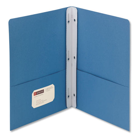 "2-pocket Folder W-tang Fastener, Letter, 1-2"" Cap, Blue, 25-box"