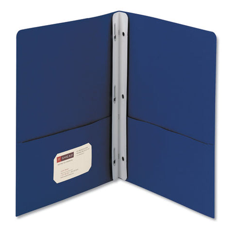 "2-pocket Folder W-tang Fastener, Letter, 1-2"" Cap, Dark Blue, 25-box"