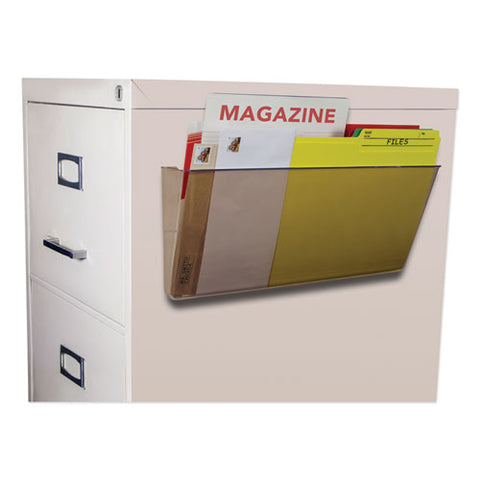 Unbreakable Magnetic Wall File, Letter-legal, 16 X 7, Single Pocket, Smoke