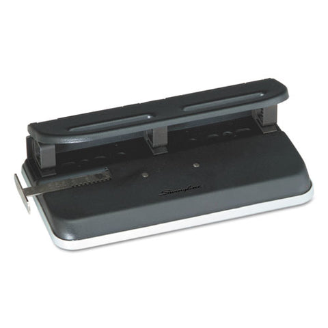 "24-sheet Easy Touch Two-to-seven-hole Precision-pin Punch, 9-32"" Holes, Black"