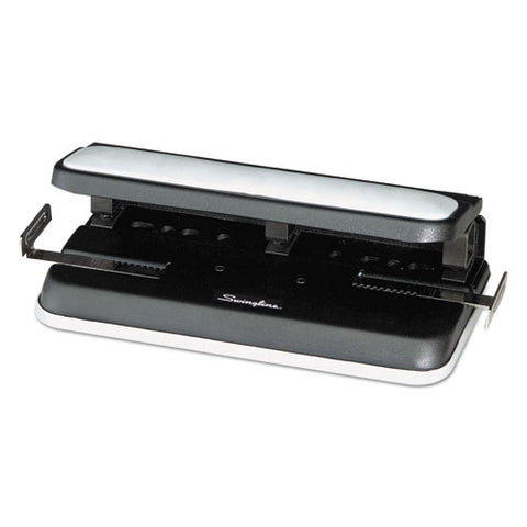 "32-sheet Easy Touch Two-to-three-hole Punch, 9-32"" Holes, Black-gray"