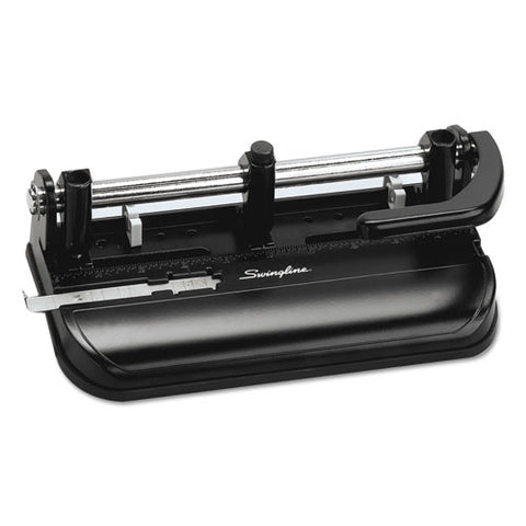 "32-sheet Lever Handle Two-to-seven-hole Punch, 9-32"" Holes, Black"