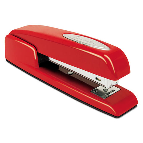 747 Business Full Strip Desk Stapler, 25-sheet Capacity, Rio Red