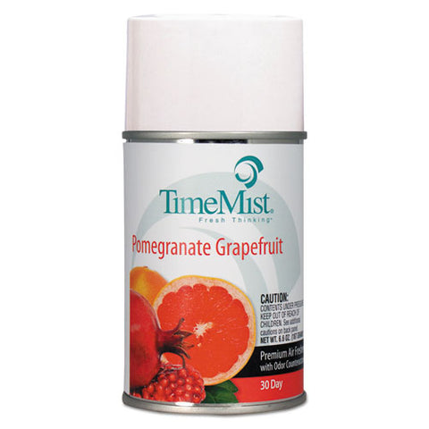 Premium Metered Air Freshener Refill, Pomegranate Grapefruit, 6.6 Oz Aerosol, 12-carton
