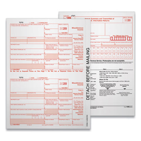 5-part 1099-misc Tax Forms, 8.5 X 11, 50-pack