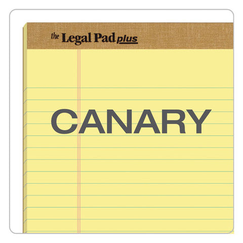 """the Legal Pad"" + Perforated Pads, Wide-legal Rule, 8.5 X 14, Canary, 50 Sheets, Dozen"