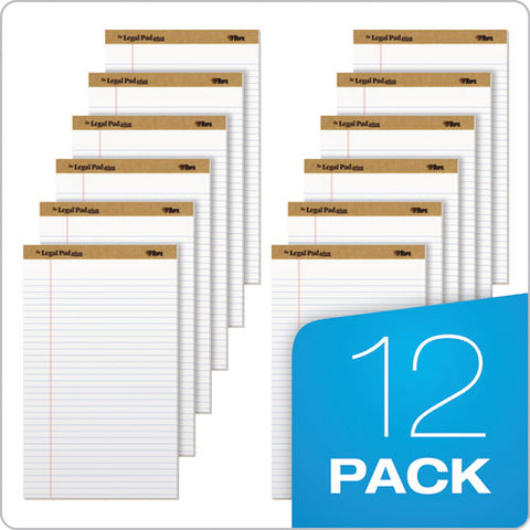 """the Legal Pad"" Perforated Pads, Wide-legal Rule, 8.5 X 14, White, 50 Sheets, Dozen"