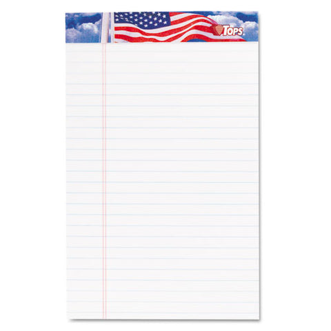 American Pride Writing Pad, Narrow Rule, 5 X 8, White, 50 Sheets, 12-pack
