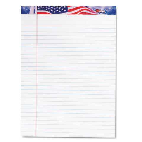 American Pride Writing Pad, Wide-legal Rule, 8.5 X 11.75, White, 50 Sheets, 12-pack