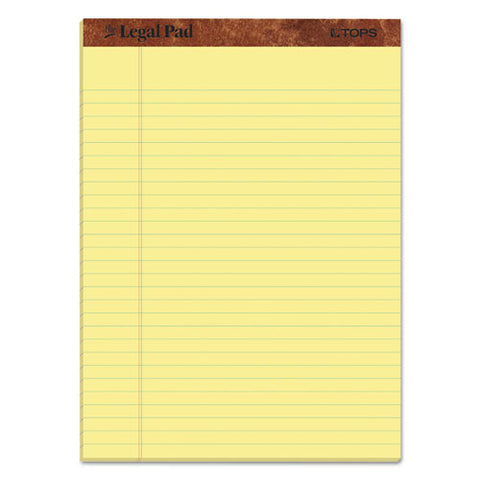 """the Legal Pad"" Perforated Pads, Wide-legal Rule, 8.5 X 11, Canary, 50 Sheets, 3-pack"