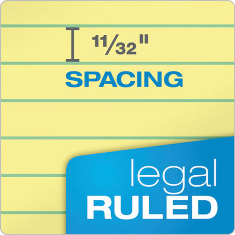 """the Legal Pad"" Ruled Pads, Wide-legal Rule, 8.5 X 11.75, Canary, 50 Sheets, Dozen"