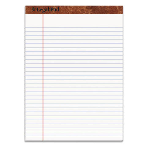 """the Legal Pad"" Perforated Pads, Wide-legal Rule, 8.5 X 11.75, White, 50 Sheets"