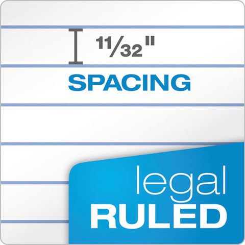 """the Legal Pad"" Ruled Pads, Wide-legal Rule, 8.5 X 11.75, White, 50 Sheets, Dozen"