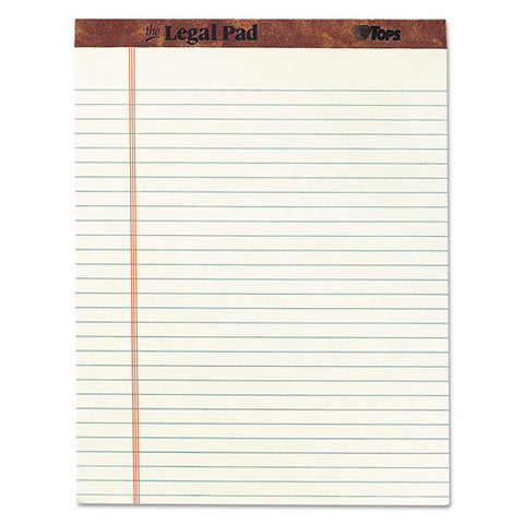 """the Legal Pad"" Ruled Pads, Wide-legal Rule, 8.5 X 11.75, Green Tint, 50 Sheets, Dz"