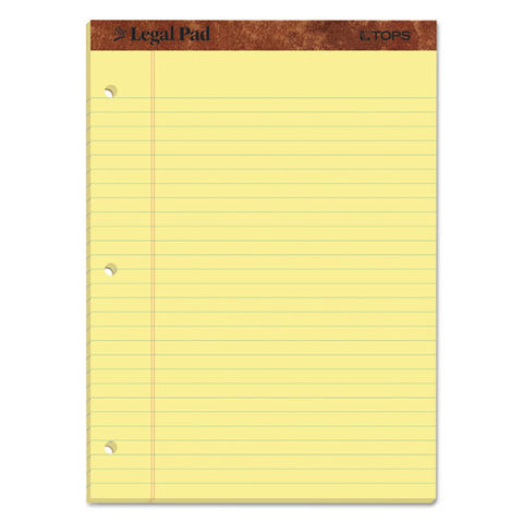 """the Legal Pad"" Ruled Pads, Wide-legal Rule, 11.75 X 8.5, Canary, 50 Sheets, Dozen"