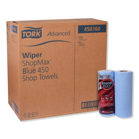 Advanced Shopmax Wiper 450, 11 X 9.4, Blue, 60-roll, 30 Rolls-carton