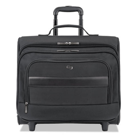 "Classic Rolling Overnighter Case, 15.6"", 16 7-50"" X 6 69-100"" X 13 39-50"", Black"