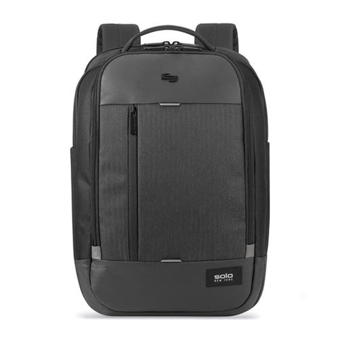 "Magnitude Backpack, For 17.3"" Laptops, 12.5 X 6 X 18.5, Black Herringbone"