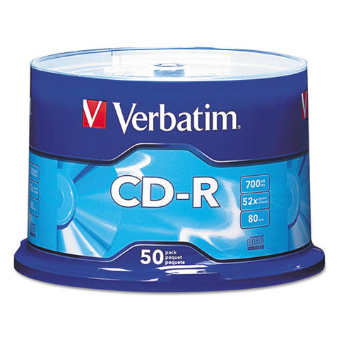 Cd-r Discs, 700mb-80min, 52x, Spindle, Silver, 50-pack