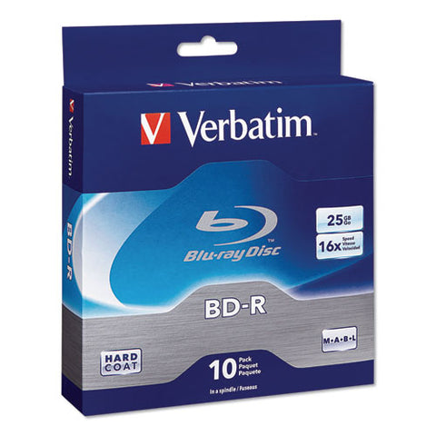 Bd-r Blu-ray Disc, 25gb, 16x, 10-pk
