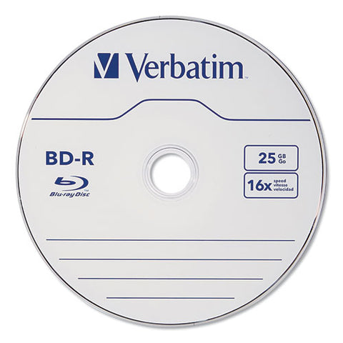 Bd-r Blu-ray Disc, 25gb, 16x, 25-pk