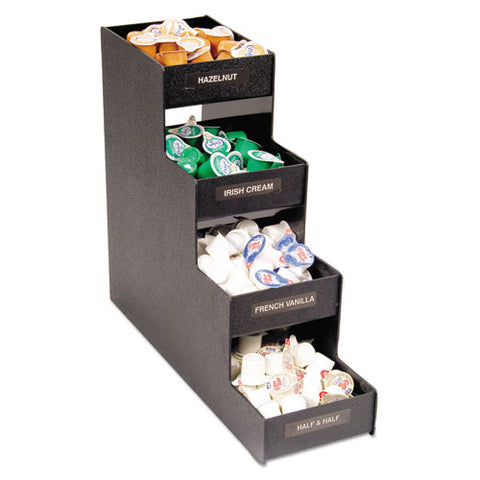 Narrow Condiment Organizer, 6w X 19d X 15 7-8h, Black