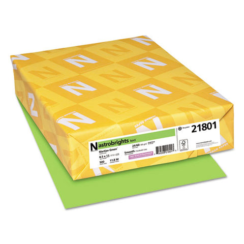 Color Paper, 24 Lb, 8.5 X 11, Martian Green, 500-ream