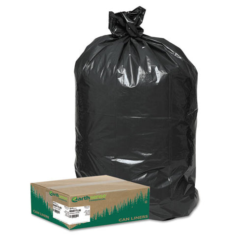"Linear Low Density Large Trash And Yard Bags, 33 Gal, 0.9 Mil, 32.5"" X 40"", Black, 80-carton"