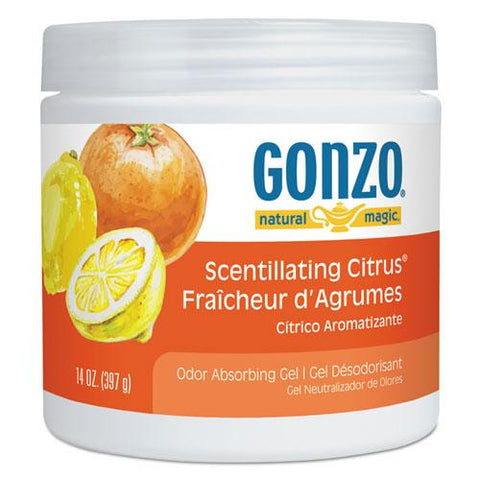 Odor Absorbing Gel, Scentillating Citrus, 14 Oz Jar, 12-carton