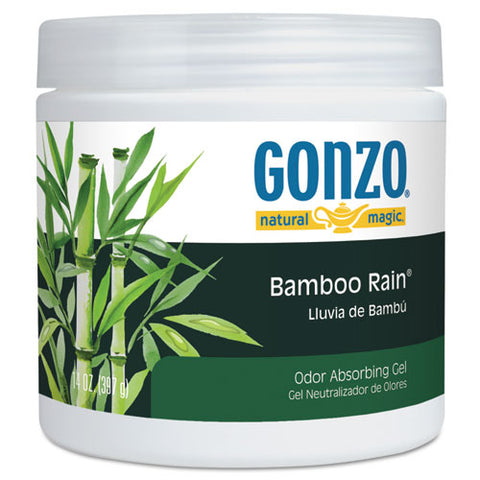 Odor Absorbing Gel, Bamboo Rain, 14 Oz Jar, 12-carton