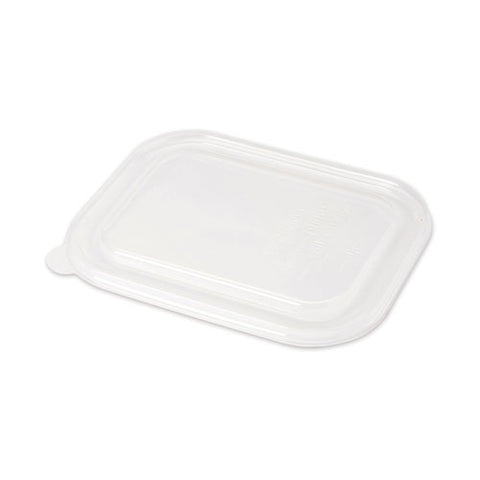 Pla Lids For Fiber Containers, 8.8 X 6.9 X 0.8, Clear, 400-carton